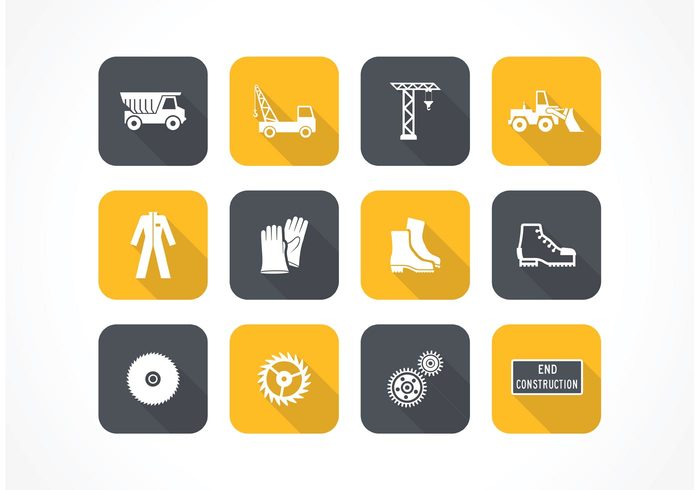 worker web wall vector truck tools tool technology symbol silhouettes sign industrial icon house gears equipment dump truck crane construction building