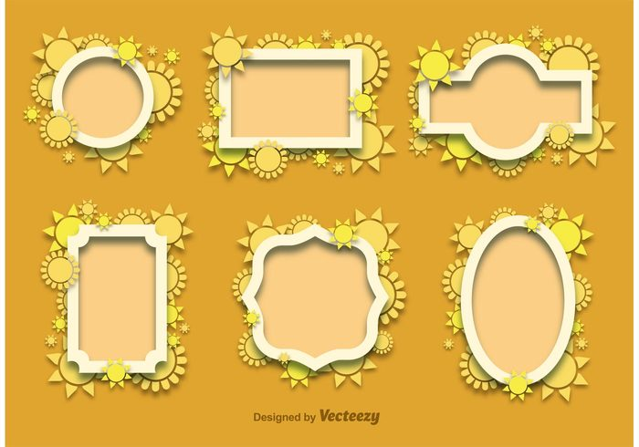 suns sunny sun frame sun summer tag summer label summer frame summer design summer spring round nature frame flower decoration bright banner