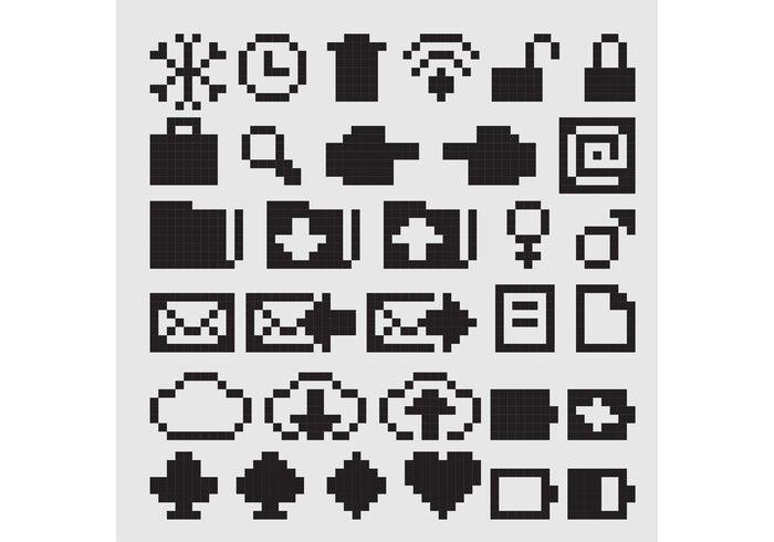 zoom wifi web up unlock trash social pointer point pixel icon pixel message mail lock icon heart hand game folder diamond cursor cloud clock chat button 8 bit icon 8 bit