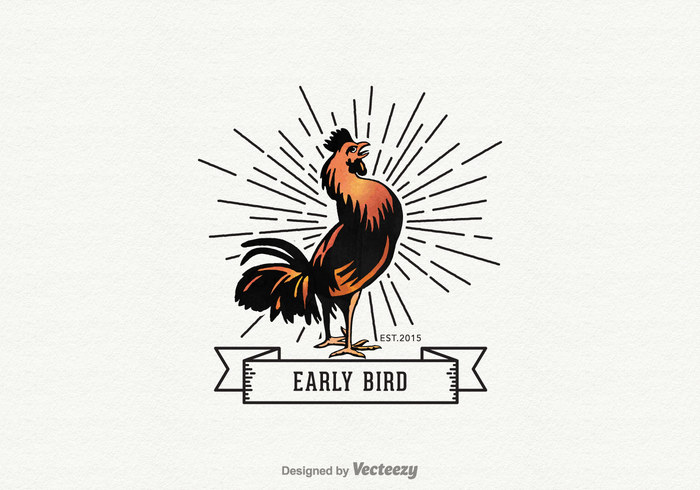 white vector the early bird gets the worm symbol silhouette sign rooster product poultry name meat logo Livestock label isolated illustration icon Hen head Fowl food farm elements early bird gets the worm early bird early design concept company cockerel cock chicken cartoon business bird background art animal abstract
