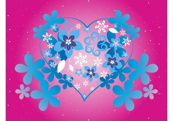 valentines day snow romantic romance plants pattern nature love greeting card flowers dots colors colorful
