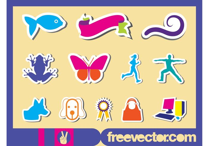 Workout woman stickers sticker spiral silhouettes run ribbon purse medal man frog fish fashion dog computer butterfly animal active