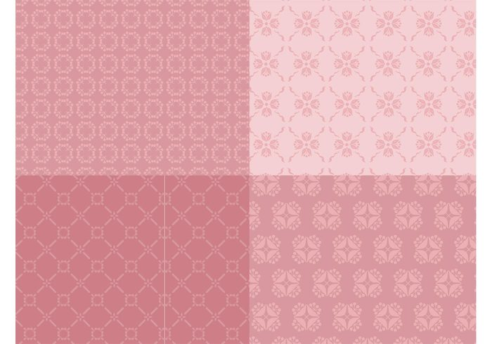 wallpapers vintage valentine spring seamless patterns romantic retro nature love flowers floral Backgrounds