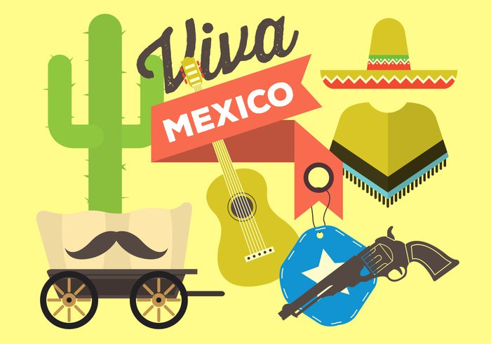 wagon traditional red pattern party moustache mexico mexican mayo May latin illustration holiday hat happy gun guitar graphic decoration De cinco de mayo clip art cinco chili celebration card cactus banner background art