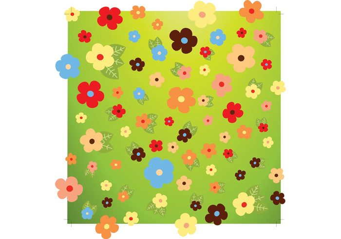 wishes summer spring pattern nature leaves fun friends fresh flowers floral daisy cool birthday background anniversary