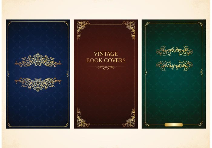 Free Vintage Book Cover Template ~ Free vector old book covers welovesolo