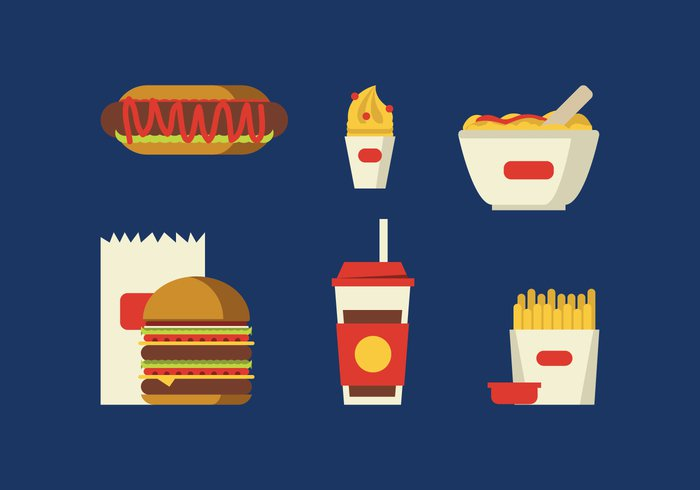 vegetable vector tomato sausage sauce sandwich salty red Ramen potato popcorn paper onion noodles Mustard meat meal ketchup isolated illustration icon ice hotdog hamburger fry French food fastfood fast egg drink dinner corn cold cola Coca chicken cheese cartoon burger bun box beef background