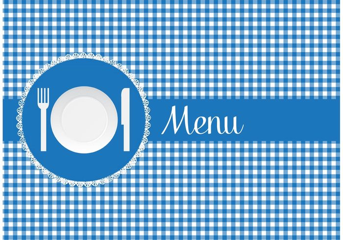 traditional table setting table cloth retro table cloth restaurant plate plastic pattern paper plate paper menu lunch knife gingham pattern gingham frame fork dishes dinner design decoration decorate creative cover cooking classic card background abstract