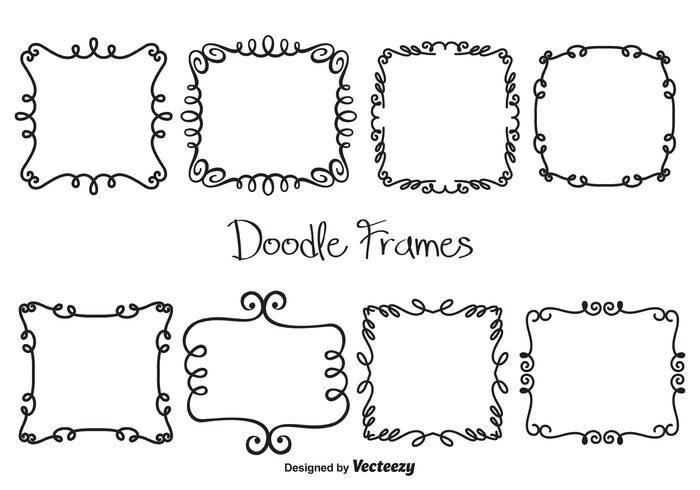 Vector Doodle Frames - WeLoveSoLo