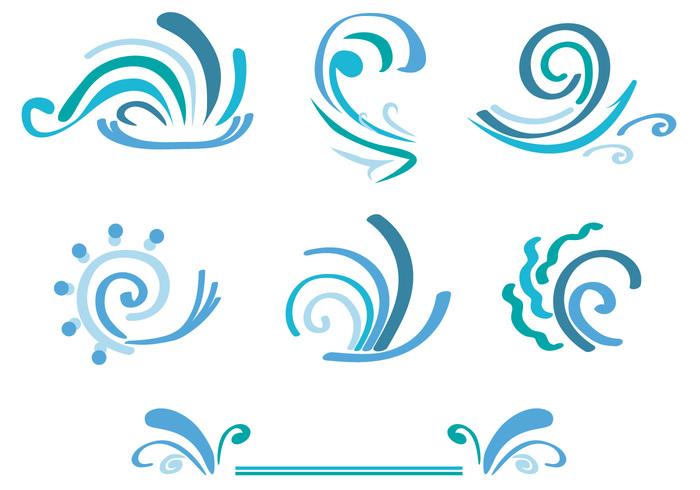 wavy wave water logo water SWIRLY LINES swirly line swirly swirl surf summer stylized storm splash shape sea scrolls river ocean nautical nature marine line isolated flow flourish emblem dynamic decorative curve curly curl blue