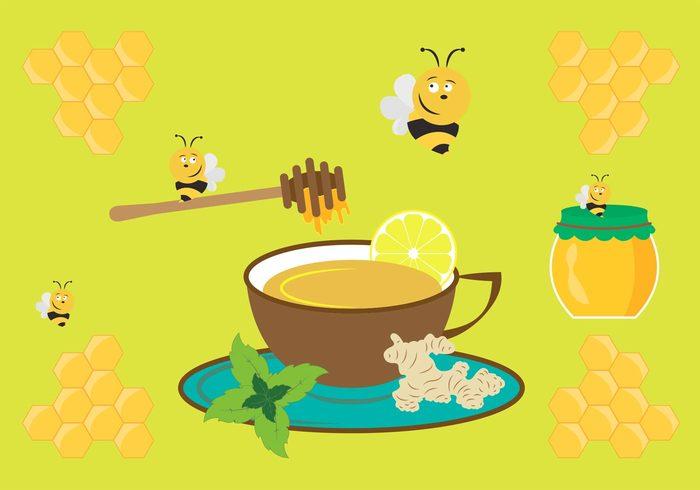 tea sweet Spice root plate organic natural mint lemon jar Ingredient hot honey herbal Healthy ginger teas ginger tea ginger fruit fresh food drink cup comb color beverage bee aroma