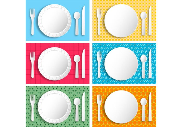 white vector texture Textile tablecloth table retro restaurant plate plastic picnic pattern paper plate paper material lunch knife kitchen fork food dish dining clipart checkered checked