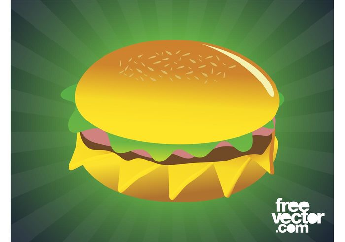 sesame sandwich meat meal lettuce hamburger food fast food eat cheese burger bun bread