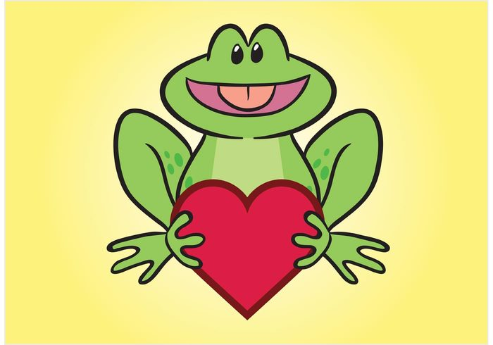 valentine Toad Prince pad magic love hugging holiday heart happy gold frog fairytale dating comic character celebration cartoon animal amphibian