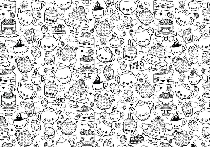 Tea Party Coloring Page 144345