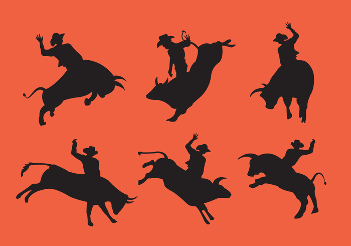 wild western west texas sport silhouette rope rodeo riding rider ride ranch Lasso illustration horse hat fighting farm extreme danger cowboy cow competition cattle bull rider bull black background art animal action