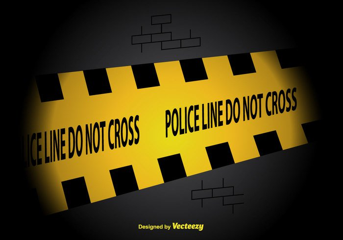 yellow wall vector tape security police line police plastic line Investigation horizontal free do not cross dark crime scene brick background