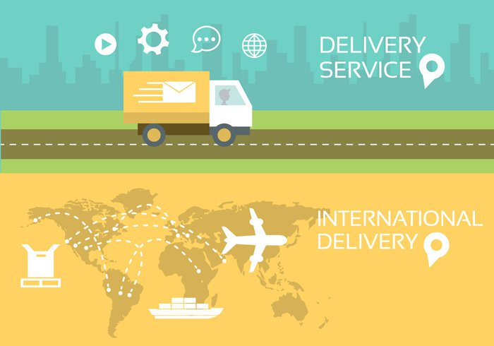 worldwide typography truck symbol store silhouette shipping ship service Sending send road Postal service postal postage post plane Place message map mail letter international delivery email design Delivery service delivery man delivery communication background