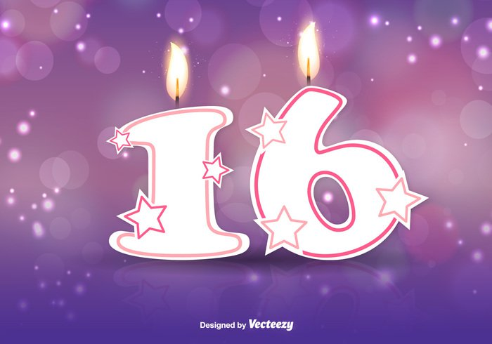 wallpaper typography template Teen sweet sixteen sweet 16 pink party number Lettering invitation illustration happy girl fun congratulation cheerful celebration celebrate card candle birthday banner background anniversary Age 16th 16