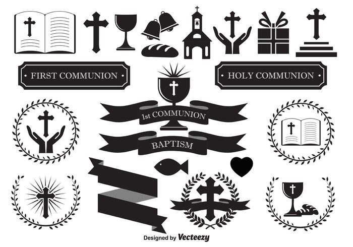 religious vectors religious icons religious elements invitation elements invitation holy communion holy first communion Design Elements decorative elements Cross vector cross icon cross church vector church icon church bible icon bible baptize baptism banners
