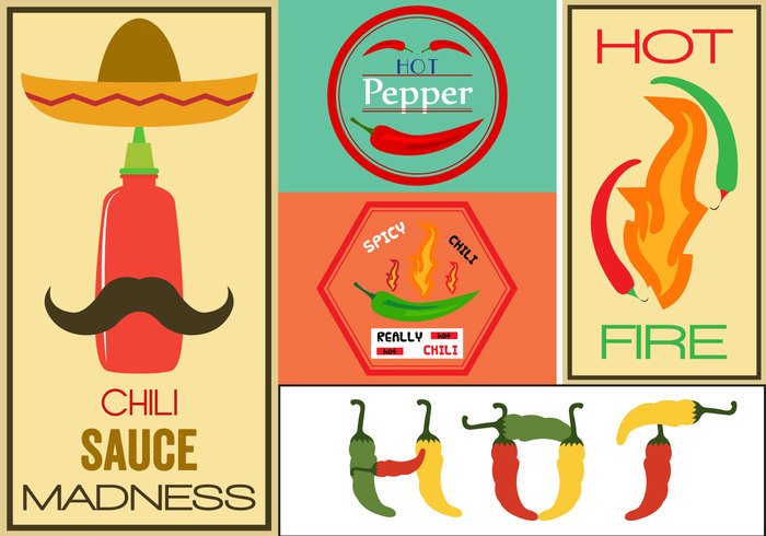 Woodcut vintage symbol stamp Spicy sign retro restaurant protein peppers pepper mexico mexican menu label hot pepper hot green pepper green hot pepper green fresh food chili bbq background