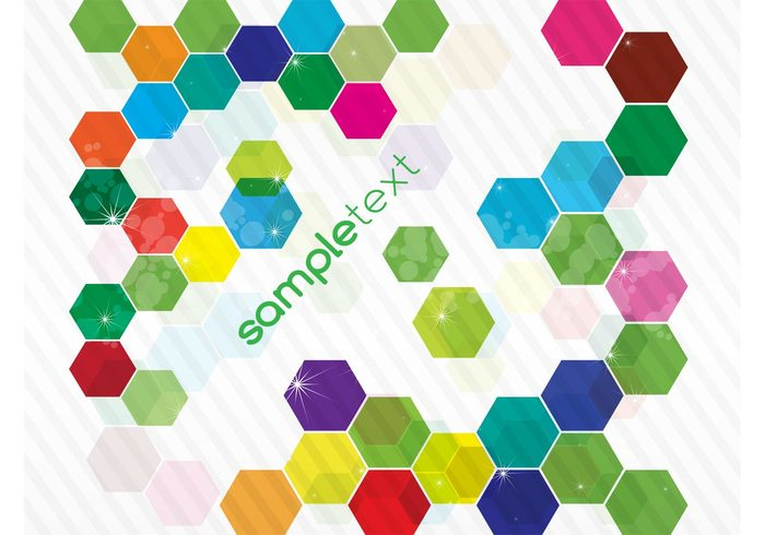 shapes rainbow multicolored light hexagon greeting card geometric free backgrounds colorful bright