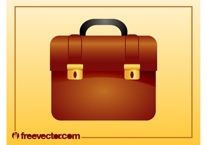 work metallic logo leather icon handle golden gold corporate business Buckles briefcase bag