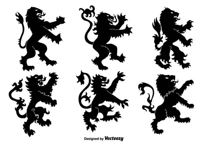 wild vintage tattoo sign royal roaring rampant medieval mane lion rampant lion king insignia heraldry heraldic emblem crest Coat black arms antique animal