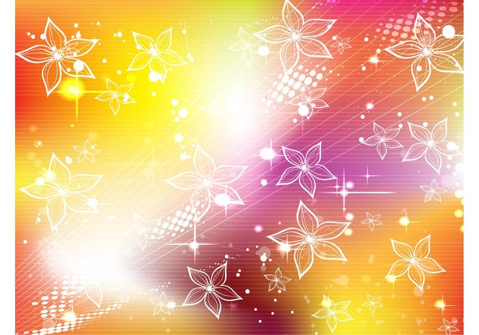stars shapes orb nature lighting halftone glow globe flowers colorful circle beautiful Backgrounds autumn art