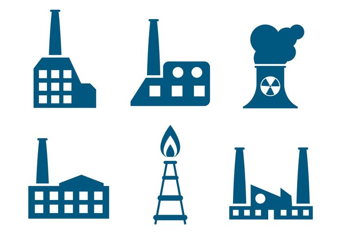 structure station smoke smog skyline silhouette Power plant power pollution pipeline pipe nuclear plant manufacture industry flat factory factory icon factory factories environment Engineering energy plant energy construction business building