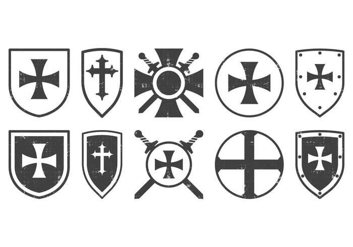 vintage vector templar team tattoo symbol stencil sign shield shapes shield set security royal retro proud object medieval logo knight isolated insignia illustration icon honor grunge graphic emblem element drawing design decoration culture cultural cross Conceptual concept collection classic badge background artwork artistic ancient