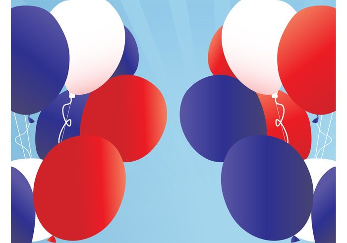USA party decorations celebration birthday Balloons vector balloons background backdrop american 4th of July