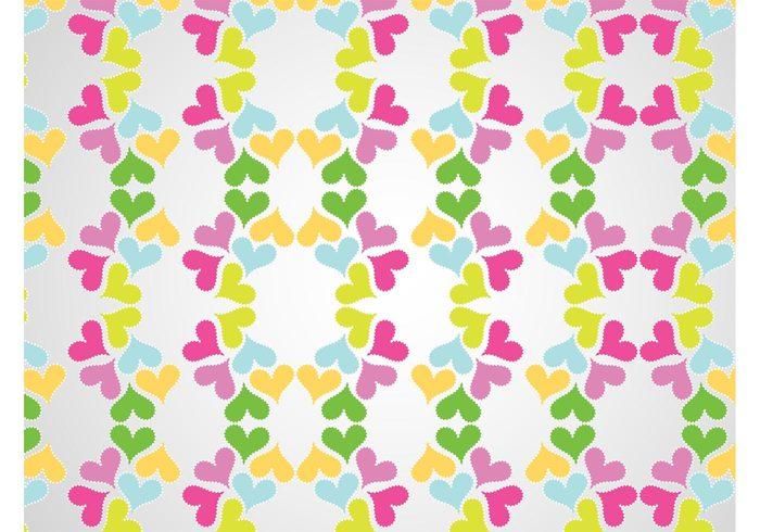wallpaper valentines day symbols seamless pattern romantic romance icons hearts decorative decorations background