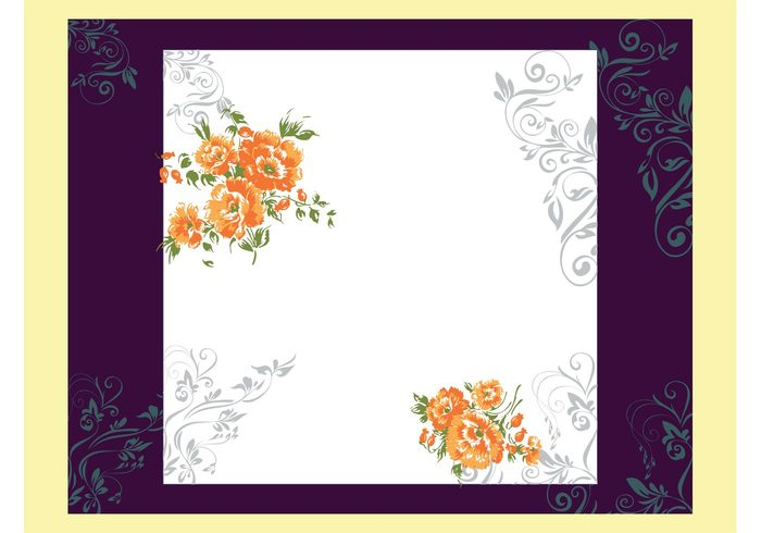 wallpaper template spring nature layout invitation geometric shapes flowers floral Dtp bouquet background