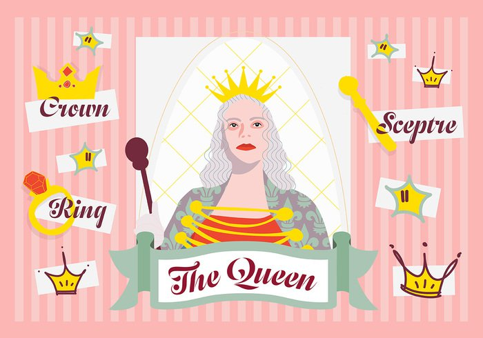 woman Wand Violets vector tale staff Smile showing Scepter royal robe reign queenly queen princess presenting person nobility monarchy monarch Majestic lady kingdom jewel illustration happy gold Gloomy girl femininity female fantasy fairytale fairy Empire dress drawing cute crown costume clothing clip character cartoon cape beautiful art