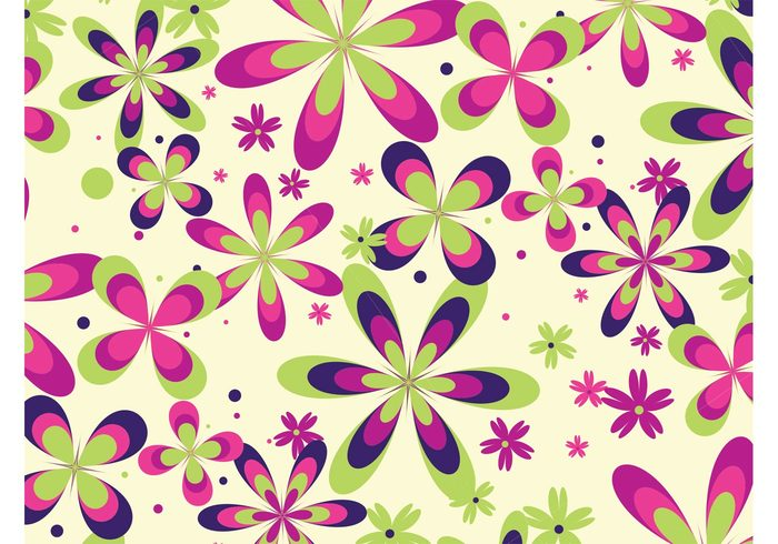 wallpaper summer spring seamless pattern plants nature floral fabric pattern Clothing prints background