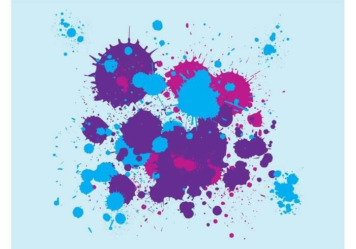 Street Art stained splatters splatter splashes paint grunge graffiti drops drips dirty decorative decoration colorful background