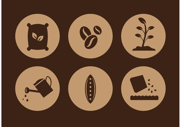 watering pail watering can water sprouting seed seed icons seed icon seed plant organic nutrition minerals grow ground gardening garden icon garden food farming farm agriculture