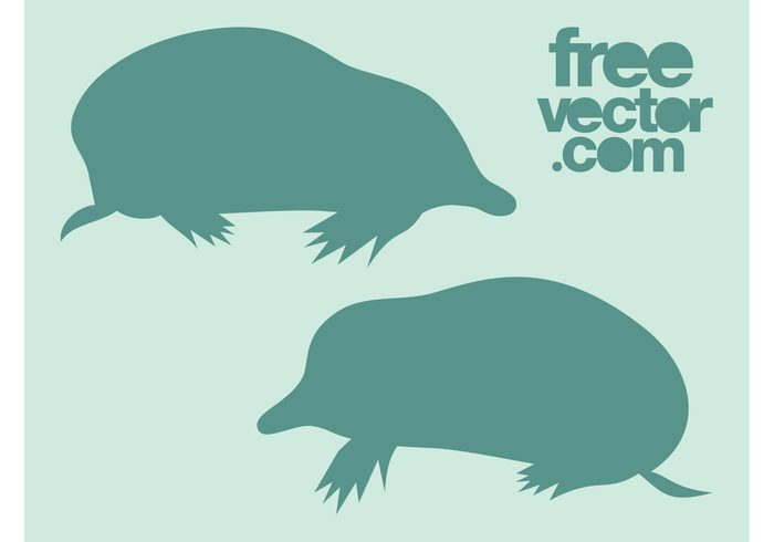 underground stickers silhouettes nature Moles logos icons fauna decals animals
