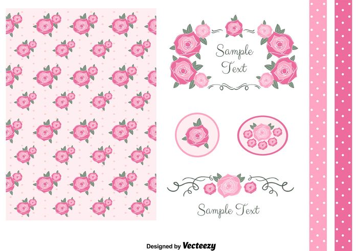 vintage vector spring shabby chic shabby set seamless scrap roses romantic retro red purple pretty polka dot pink pattern paper love label free flowers floral fabric elements element chic borders background