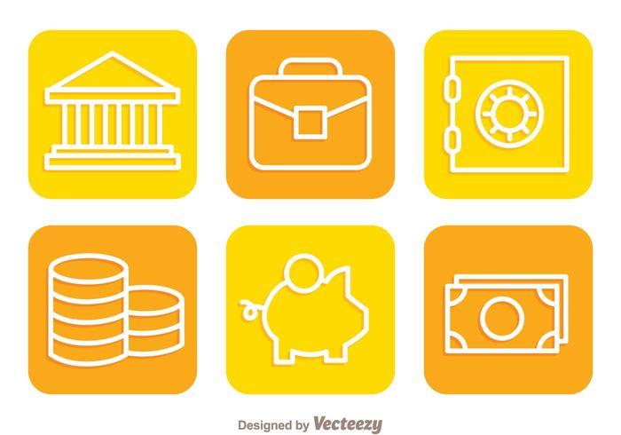 saving Safe pig orange moneybox money flat finance dollar bill dollar coin cash bussiness briefcase banking bank icons bank icon bank
