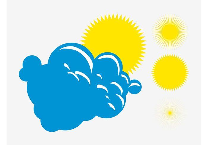 weather suns sunny sun sky nature logos icons day cloud climate cartoon
