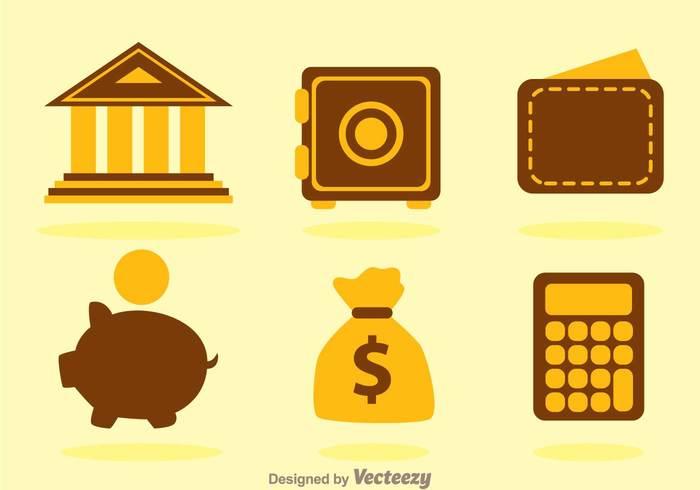wallet saving Safe piggy bank pig money bag money investment financial finance cash calculator building briefcase banking bank icons bank icon bank