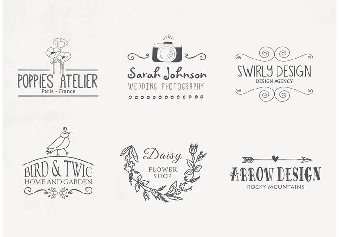 vintage vector typography type template swrills style sketch set retro photography ornaments marketing logos logo leaves labels hand drawn flowers flourish floral elements elegant drawn doodles decorative curls brands of the world branding banners arrow