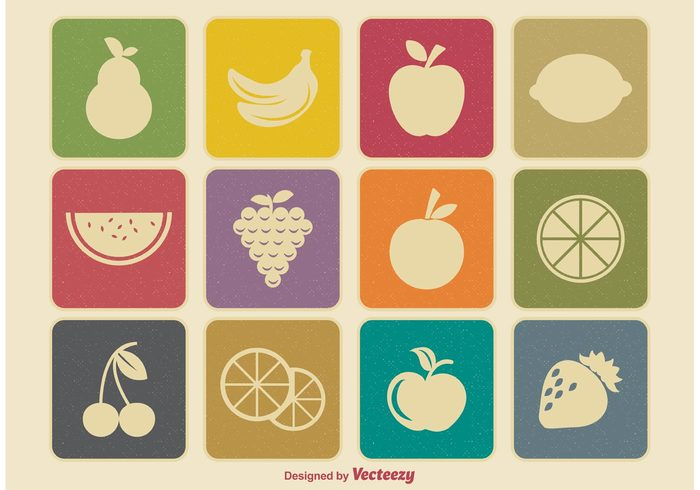 white vintage vector variety sweet snack silhouette Retro style retro icon retro pear organic orange object nutrition mixed mix market life lemon juicy illustration icons icon set icon Healthy groceries grapes fruity fruit icons fruit fresh frame food fashion exotic eating delicious colorful color closeup close-up banana assorted apple