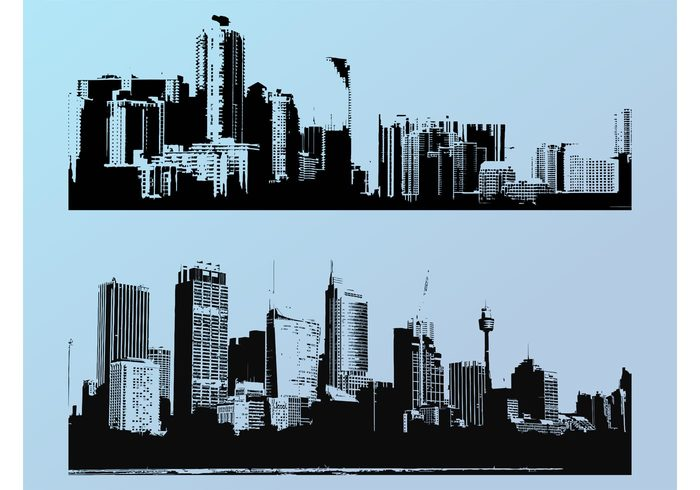 wallpapers urban towers tall skyscrapers Skylines decorations Cityscapes cities buildings Backgrounds architecture