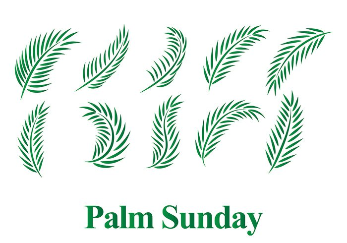 28gkvrhil4nge19 Free Palm Sunday Vector