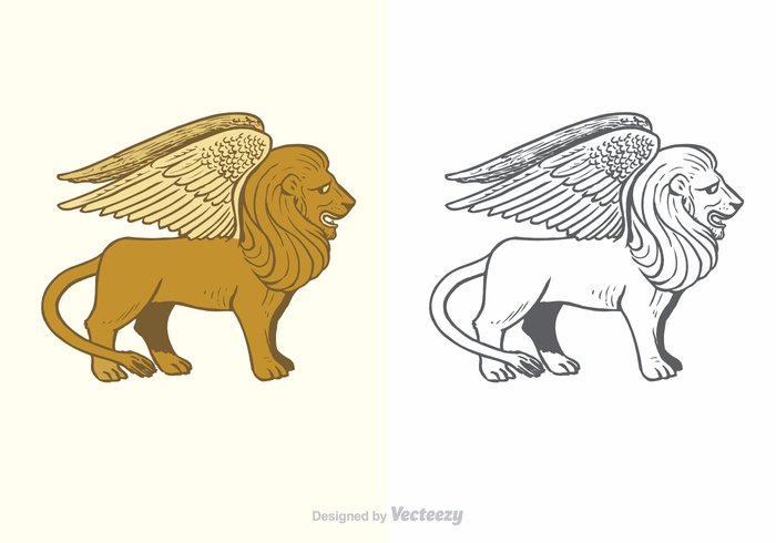 winged lion winged wing Wildcat wild vector symbolic symbol strong strength spiritual Spirit sketch silhouette sign Plumage paw outline Muzzle metaphor lion Leo illustration heraldry heraldic Heaven graphic Feline feather fantasy fairytale fairy engraving drawing doodle crest creature Conceptual concept cat Carnivore beast background animal
