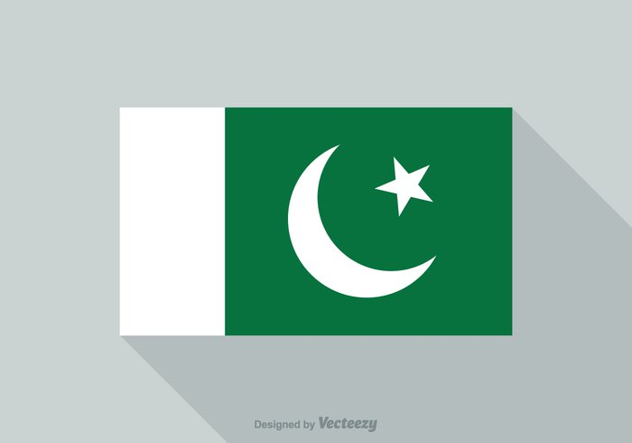 white view vector tourism template symbol star shadow scale Patriotism Patriot pakistani pakistan flag Pakistan official nationality national nation long insignia illustration identity green government geography flat flag emblem design curve crescent country concept color background