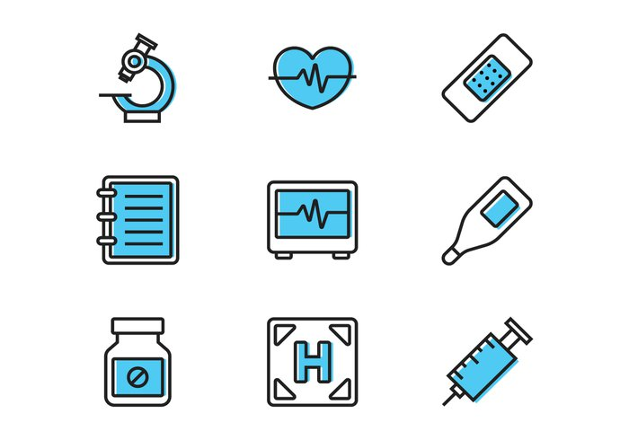 web visual vector ui thermometer symbol style stroke star sign set scalpel report Plaster pictogram outline object monitor medicine medical logo line life injection infographic icon hospital helipad heart monitor heart healthcare health graphic geometric flat element design Cure color collection cardiogram background app acuity